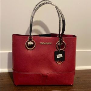 Red Michael Kors Tote Bag